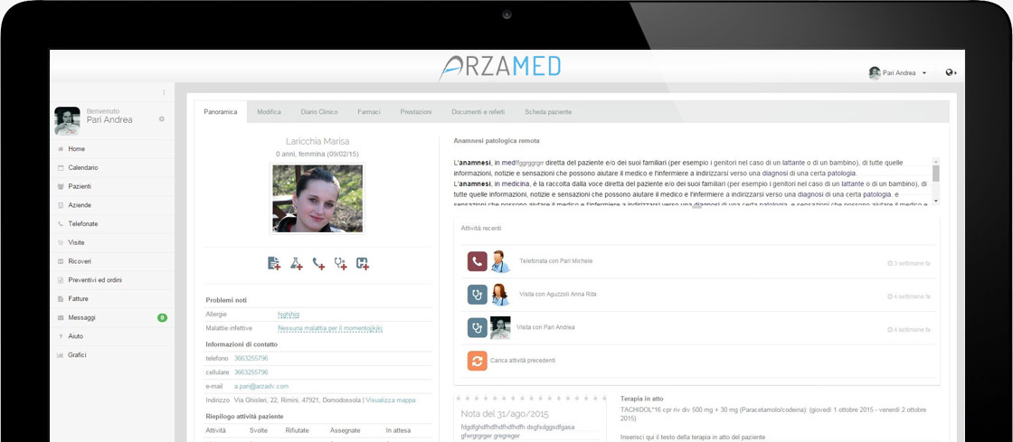 Cartella clinica elettronica ArzaMed software medico